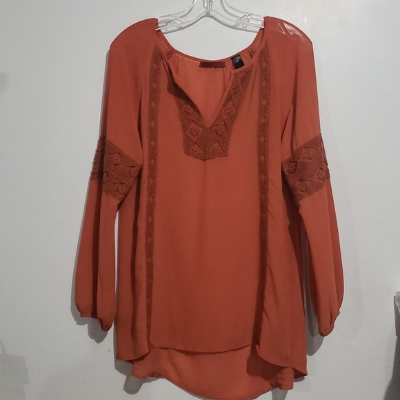 BKE red Tops - BKE red Blouse Burnt Orange Size M c148c918e